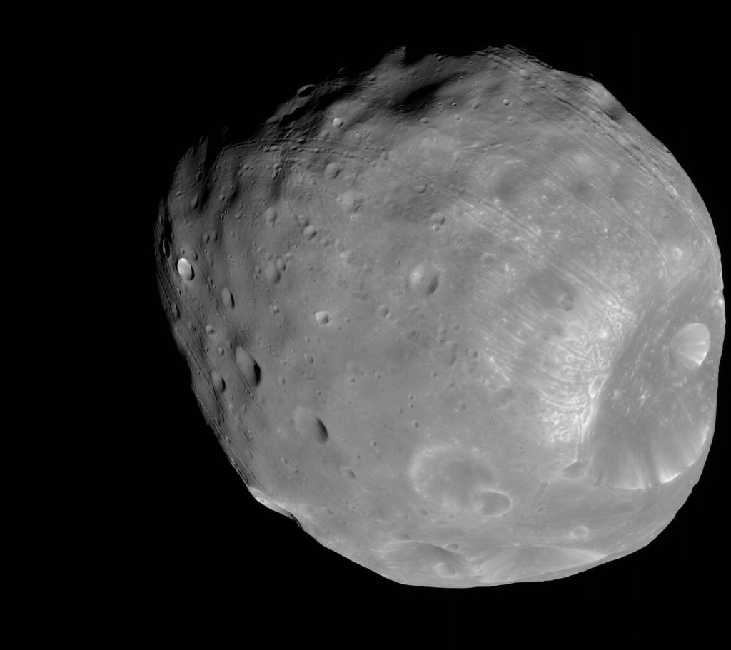 Phobos from 6,800 Kilometers