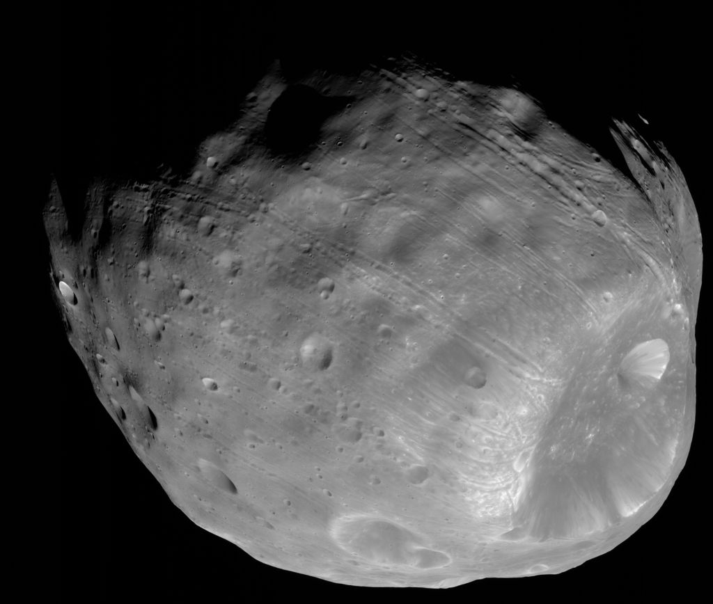 Phobos from 5,800 Kilometers