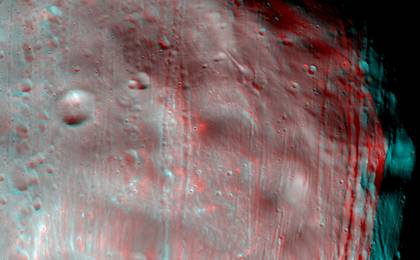 see the image ''Marsshine' on Shadowed Part of Phobos'