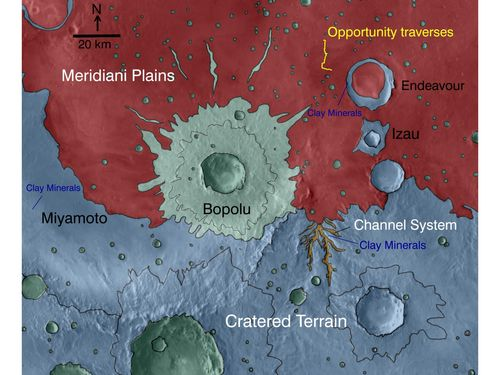 Geologic Setting of Opportunity Traverse and Meridiani Planum