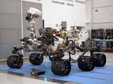 This is the right-eye member of a stereo pair of images of the Mars Science Laboratory mission's rover, Curiosity.