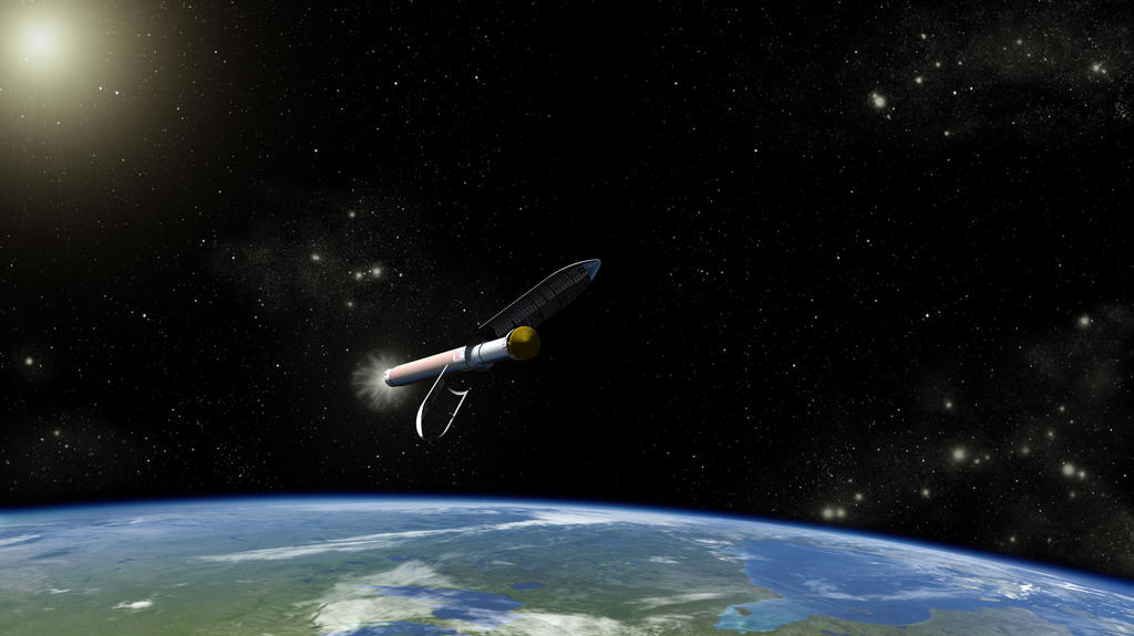 This is an artist concept of the Atlas V541 launch vehicle that will carry NASA's Curiosity rover on its way to Mars.