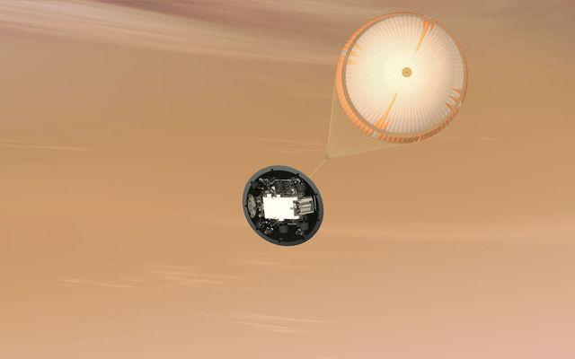 Mars Science Laboratory Parachute, Artist's Concept