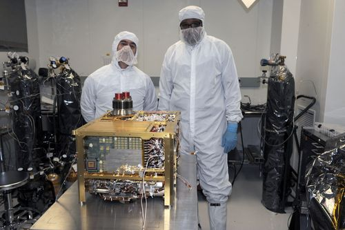 The Sample Analysis at Mars (SAM) instrument for NASA's Mars Science Laboratory mission will study chemistry of rocks, soil and air as the mission's rover, Curiosity, investigates Gale Crater on Mars.