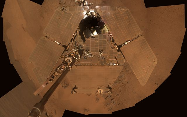 Dusty Mars Rover Selfie
