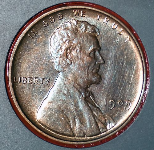 The Lincoln penny in this photograph is part of a camera calibration target attached to NASA's Mars rover Curiosity, which is on track for a landing on Mars the night of Aug. 5 to Aug. 6, 2012.