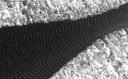 see the image 'Ripple Movement on Sand Dune in Nili Patera, Mars'