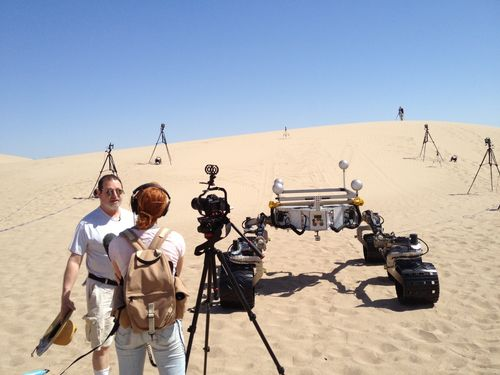 Watching Test Drives in California for Rover Mission to Mars