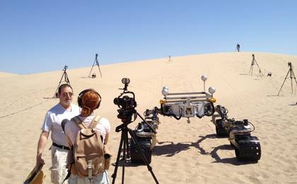 see the image 'Watching Test Drives in California for Rover Mission to Mars'