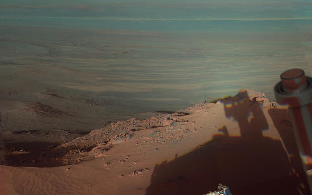 Late Afternoon Shadows at Endeavour Crater