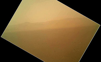 see the image 'First Color Image of the Martian Landscape Returned from Curiosity'