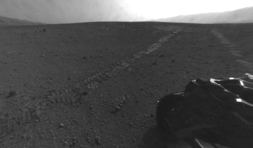 On Aug. 28, 2012, during the 22nd Martian day, or sol, after landing on Mars, NASA's Curiosity rover drove about 52 feet (16 meters) eastward, the longest drive of the mission so far.
