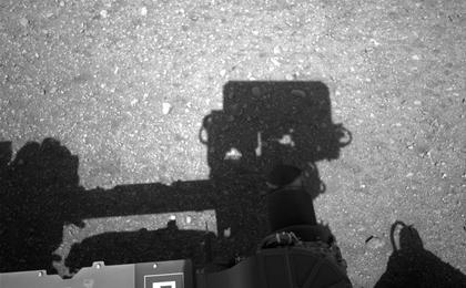 see the image 'Curiosity Looks Away from the Sun'