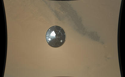 see the image 'Curiosity's Heat Shield in Detail'