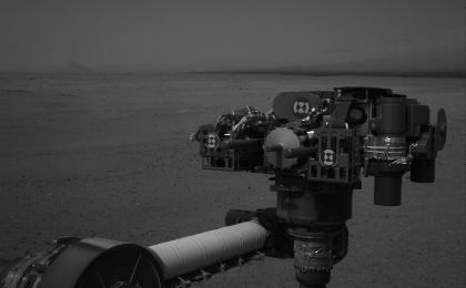 see the image 'End of Curiosity's Extended Arm, Full-Resolution'