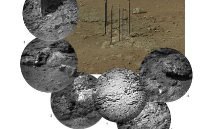 see the image 'Zapping Rocks Exposed by the Sky Crane's Thrusters'