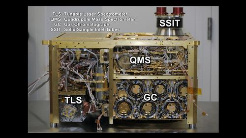 Sample Analysis at Mars Instrument, Side Panels Off (Annotated)