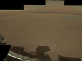 This color panorama shows a 360-degree view of the landing site of NASA's Curiosity rover, including the highest part of Mount Sharp visible to the rover. That part of Mount Sharp is approximately 12 miles (20 kilometers) away from the rover. .