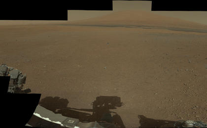 see the image 'Landing Site Panorama, with the Heights of Mount Sharp'