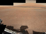 This color panorama shows a 360-degree view of the landing site of NASA's Curiosity rover, including the highest part of Mount Sharp visible to the rover. That part of Mount Sharp is approximately 12 miles (20 kilometers) away from the rover.