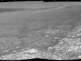 This 360-degree panorama assembled from images taken by the navigation camera on NASA's Mars Exporation Rover Opportunity shows terrain surrounding the position where the rover spent its 3,000th Martian day, or sol, working on Mars (July 2, 2012).
