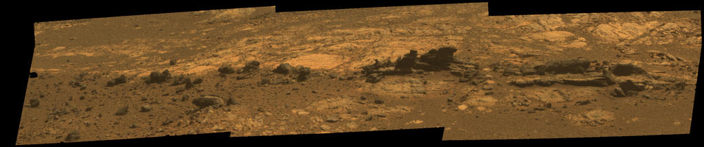 Opportunity Eyes Rock Fins on Cape York, Sol 3058