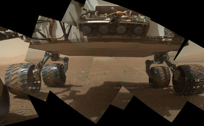 see the image 'Panorama of Curiosity's Belly Check'