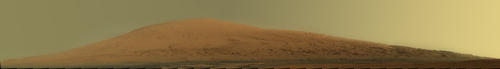 Mount Sharp Panorama in Raw Colors