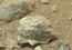 see the image 'Bluish-Black Rock with White 'Crystals' on Mars'