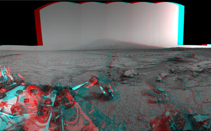 see the image 'Mars Stereo View from 'John Klein' to Mount Sharp, Raw'