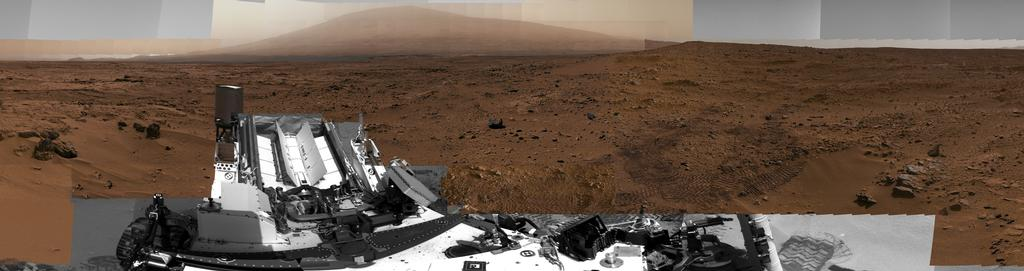 Image of Billion-Pixel View From Curiosity at Rocknest, White-Balanced