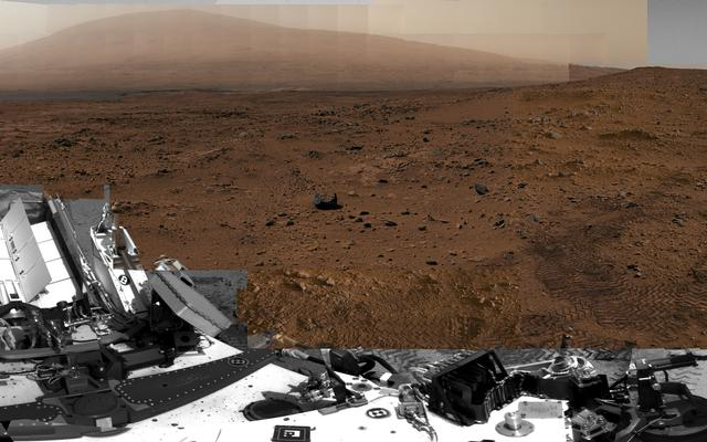 Billion-Pixel View From Curiosity at Rocknest, White-Balanced