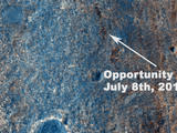 "NASA's Mars Exploration Rover Opportunity has been on the western rim of Endeavour Crater in Meridiani Planum for about two years. Until May 2013, it was investigating sedimentary layers that are three to four billion years old on a portion of the rim called ""Cape York."""