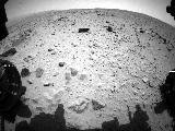 NASA's Curiosity Mars rover captured this image with its left front Hazard-Avoidance Camera (Hazcam) just after completing a drive that took the mission's total driving distance past the 1 kilometer (0.62 mile) mark.