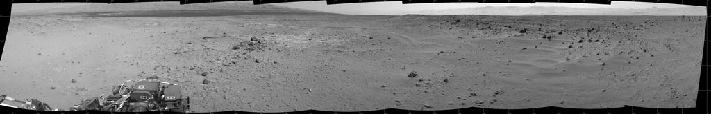 View Ahead After Curiosity's Sol 376 Drive Using Autonomous Navigation