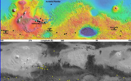 read the article 'Maps of Recurrent Slope Linea Markings on Mars'