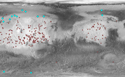 read the article 'Locations of Ice-Exposing Fresh Craters on Mars'