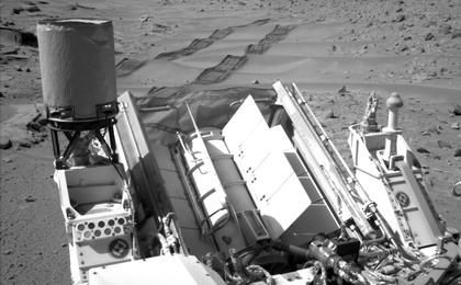 see the image 'Curiosity Making Headway West of 'Dingo Gap''