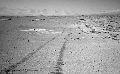 see the image 'Curiosity's View Back After Passing 'Junda' Striations'