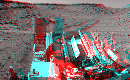 see the image 'Panoramic View From West of 'Dingo Gap' (Stereo)'