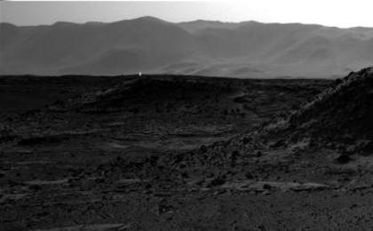 see the image 'Bright Spot Toward Sun in Image from NASA's Curiosity Mars Rover'