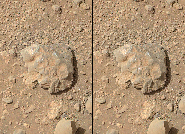 Nasa Rover S Images Show Laser Flash On Martian Rock