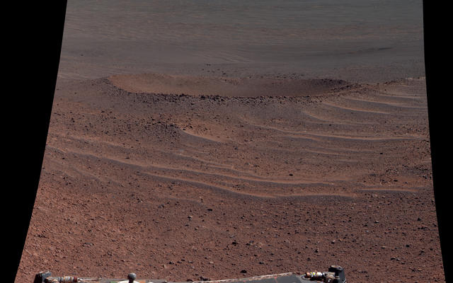 'Lunokhod 2 Crater' on Mars (False Color)