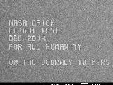 At 7500X magnification, you can see the message on Orion's #JourneyToMars microchip that precedes a list of over 1.3 million names.