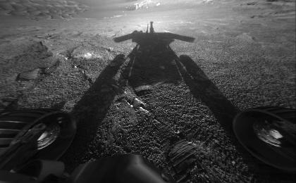 Opportunity Catches its Shadow