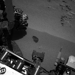 This image was taken by Navcam: Left A (NAV_LEFT_A) onboard NASA's Mars rover Curiosity on Sol 61 (2012-10-07 18:24:21 UTC)