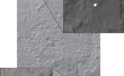 see the image 'Curiosity Sails to Mars as Heat Shield Falls Away'
