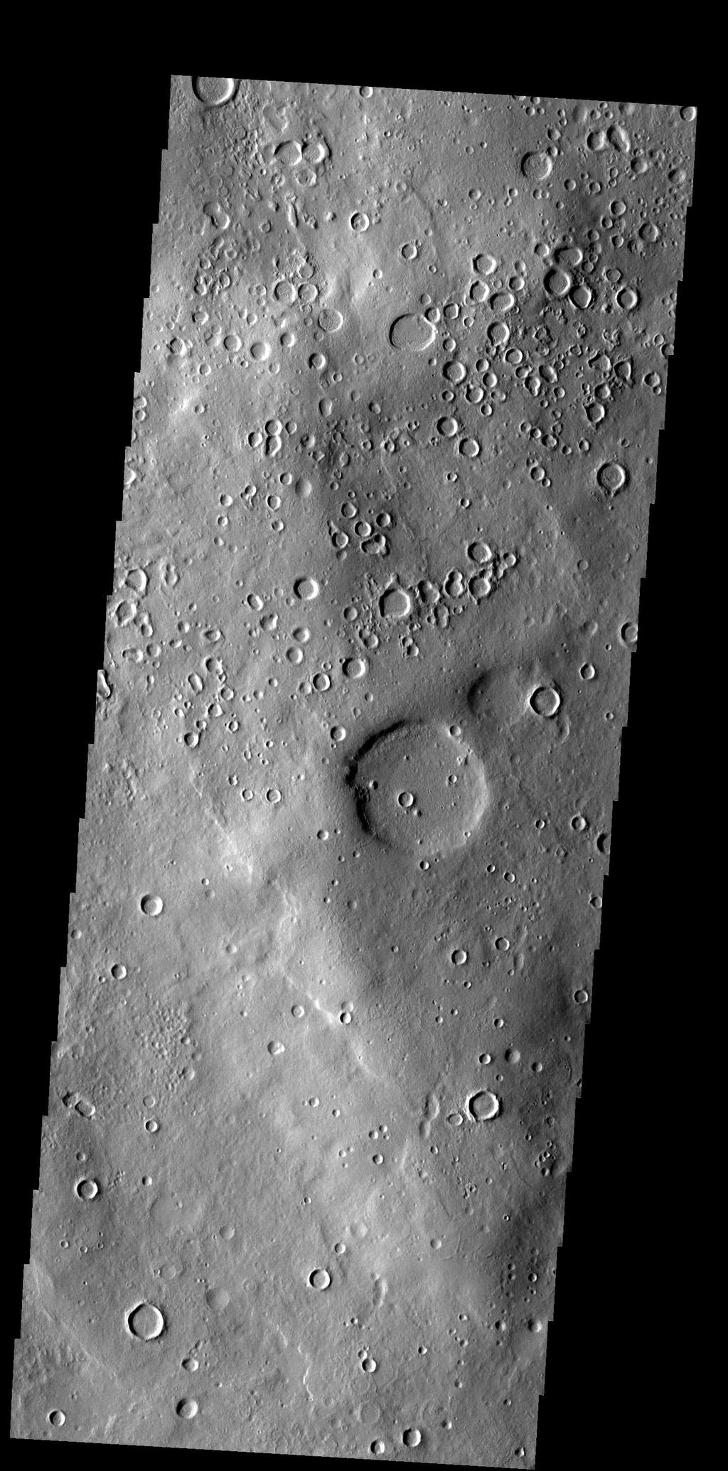 This region of Terra Sabaea contains areas with high densities of small craters.