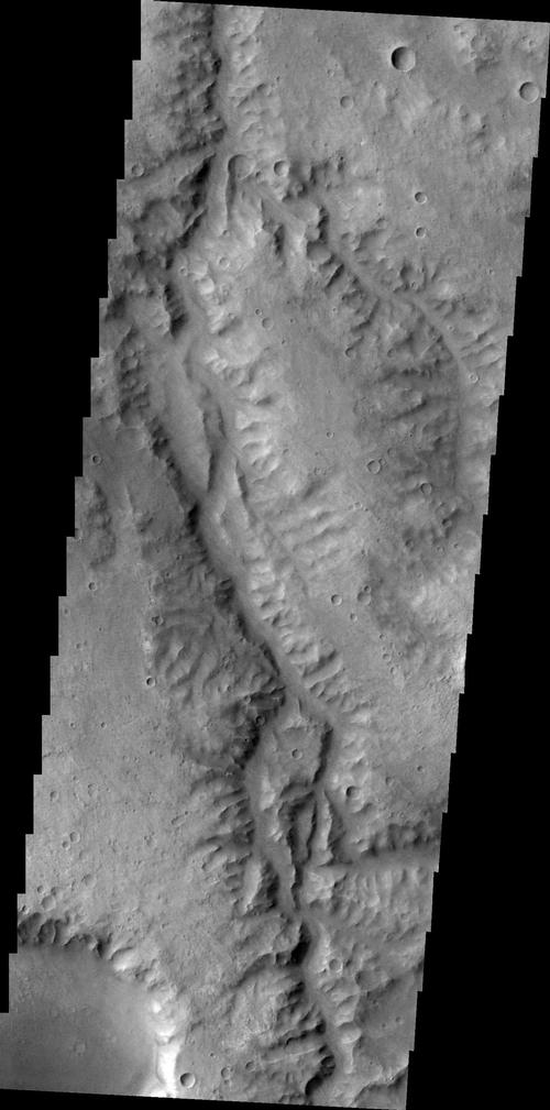 This unnamed channel drains part of Margaritifer Terra.