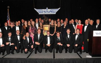see the image 'Team Behind Curiosity Receives Collier Trophy'